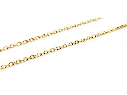 Zlatý dámský řetízek v provedení Cable