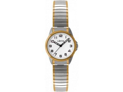 3642 damske pruzne hodinky lavvu stockholm small bicolor