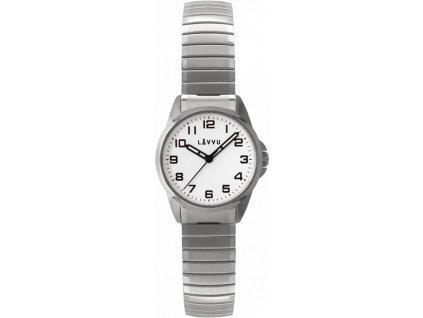 207 damske pruzne hodinky lavvu stockholm small white