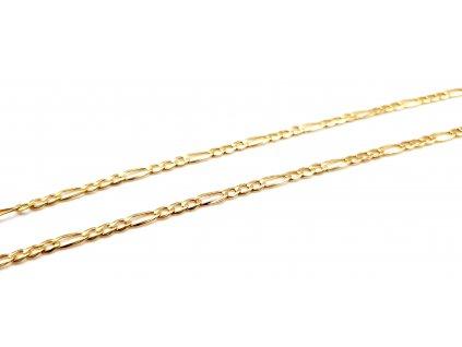 Dámský zlatý řetízek - provedení Figaro (Délka řetízku 45cm)