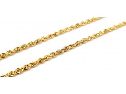 Dámský zlatý řetízek v provedení Valis (Délka řetízku 40cm)