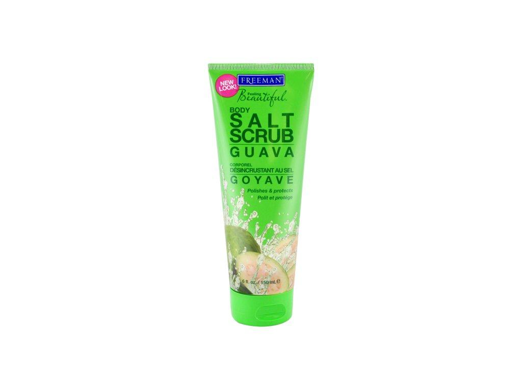 FREEMAN tělový peeling se solí - guava 150ml