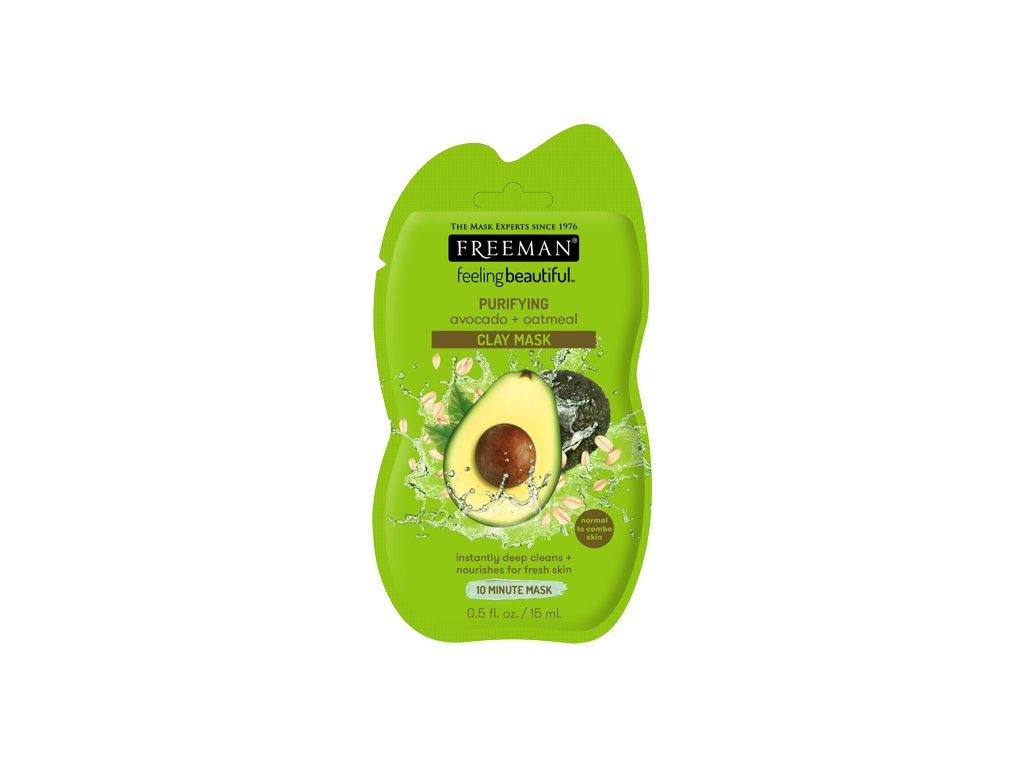 FREEMAN čistící jílová maska - avokádo & oves 15ml sachet