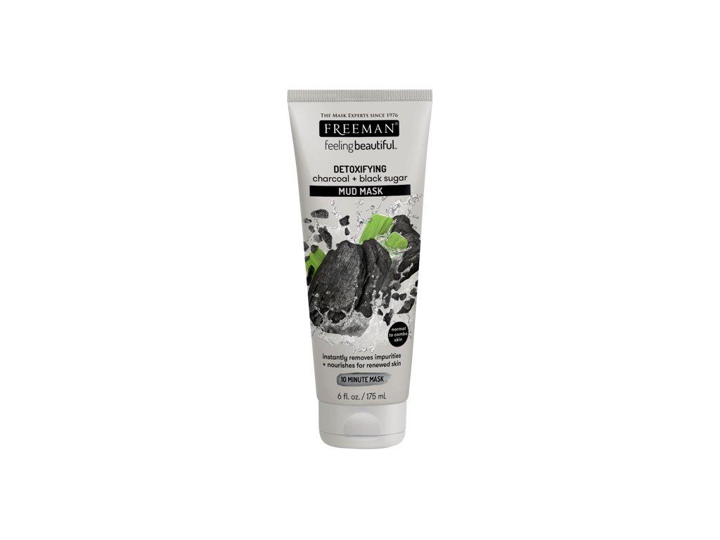 FREEMAN bahenní maska - aktivní uhlí & černý cukr 175ml