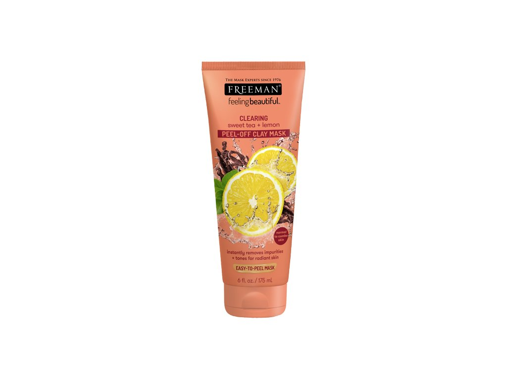 FREEMAN čistící jílová maska - sladký čaj & citrónová kůra 175ml