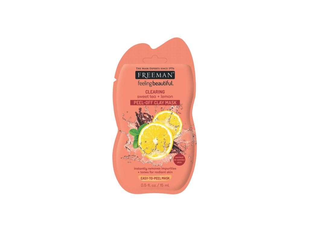 FREEMAN čistící jílová maska - sladký čaj & citronová kůra 15m sachet