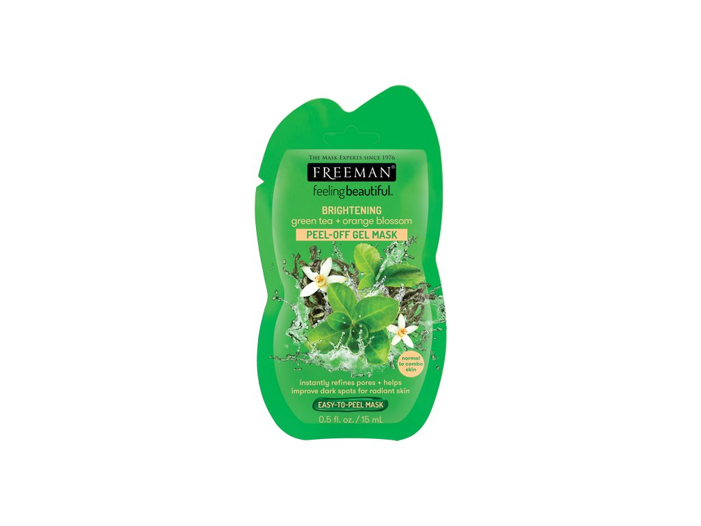 FREEMAN slupovací gelová maska zelený čaj & pomerančový květ 15ml sachet