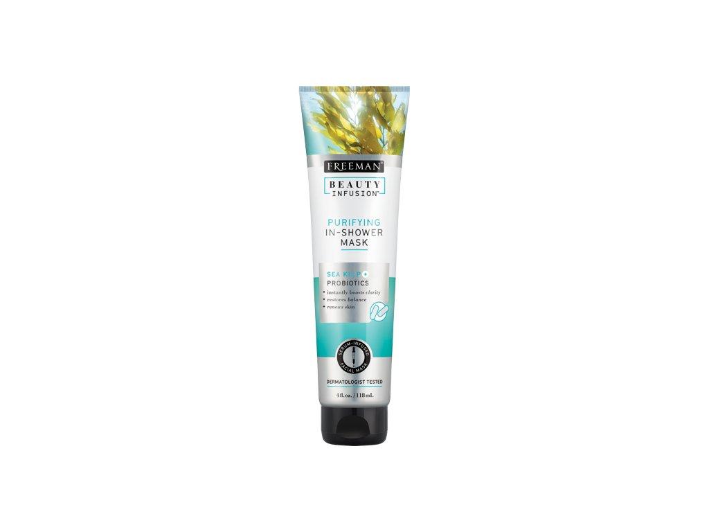 FREEMAN BI-Čistící maska do sprchy mořské řasy + probiotika + serum 118ml