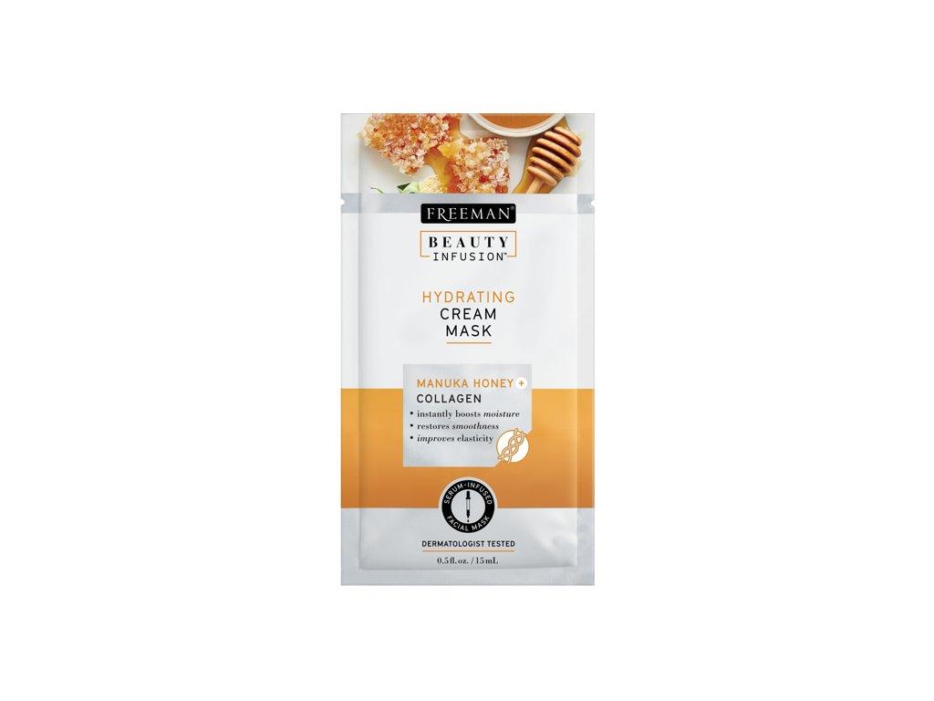 FREEMAN BI-Hydratační krémová maska manukový med + kolagen + serum sachet 15ml