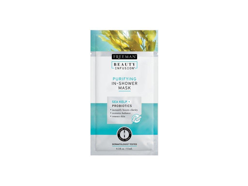 FREEMAN BI-Čistící maska do sprchy mořské řasy + probiotika + sérum sachet 15ml