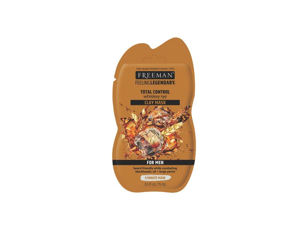 FREEMAN pánská jílová maska whiskey-rýže sachet 15ml