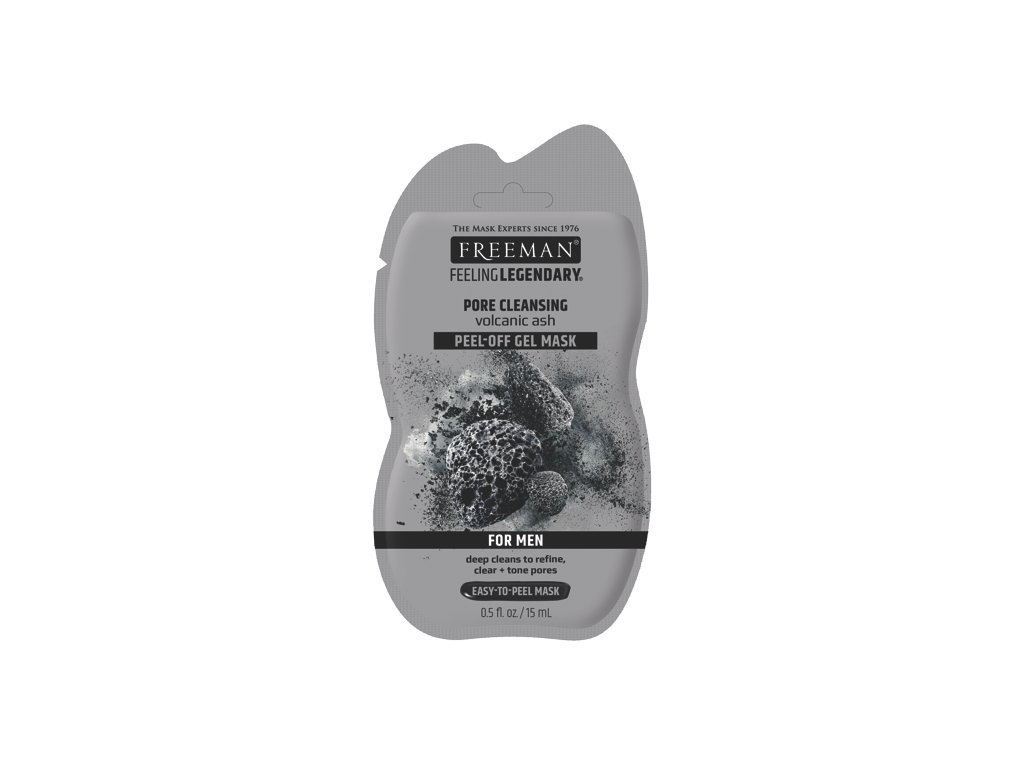 FREEMAN pánská gelová čisticí maska sopečný popel sachet 15ml
