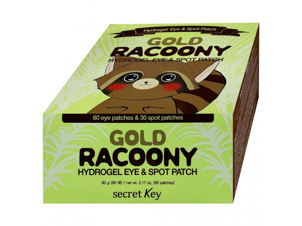SK Gold Racoony hydrogelové náplasti na oči-tečky 90ks