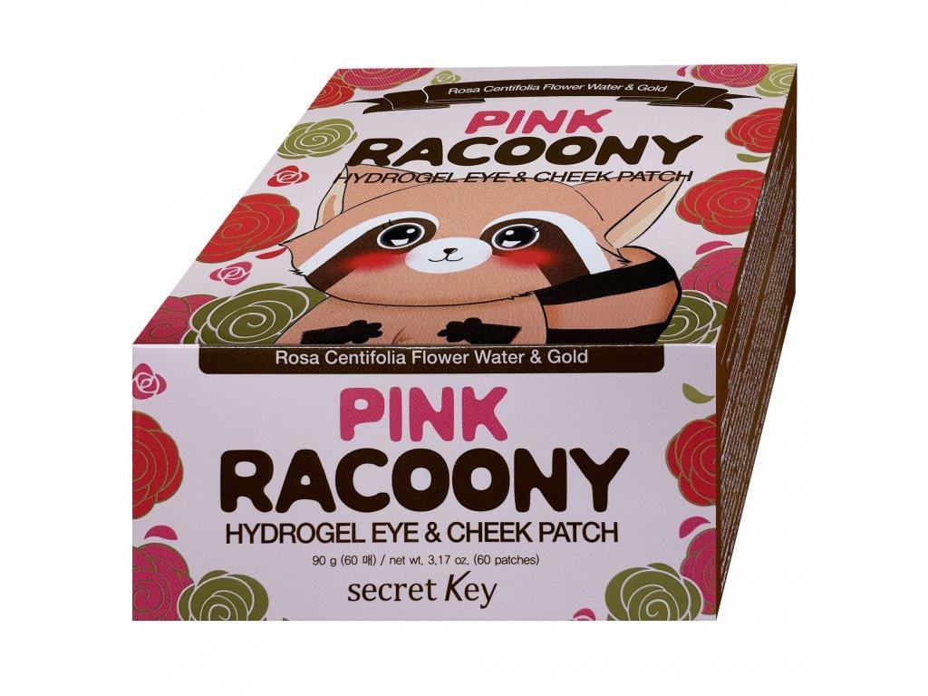 SK Pink Racoony hydrogelové náplasti na oční líčka 60ks