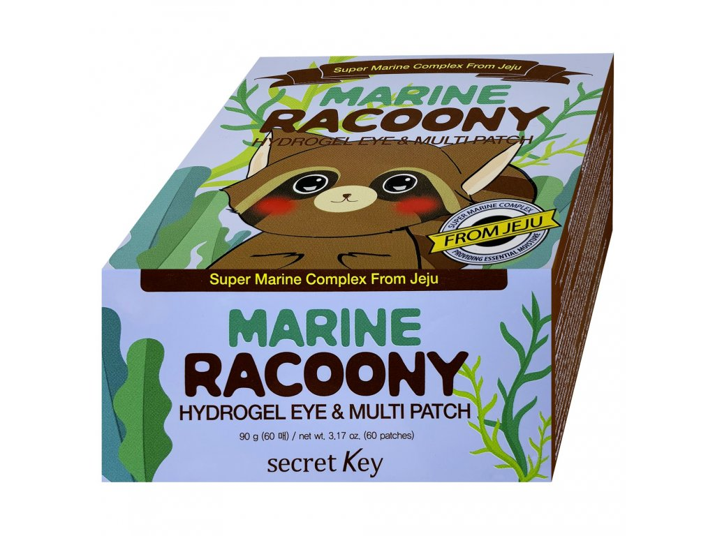 SK Marine Racoony hydrogelové náplasti na oči-multi 60ks