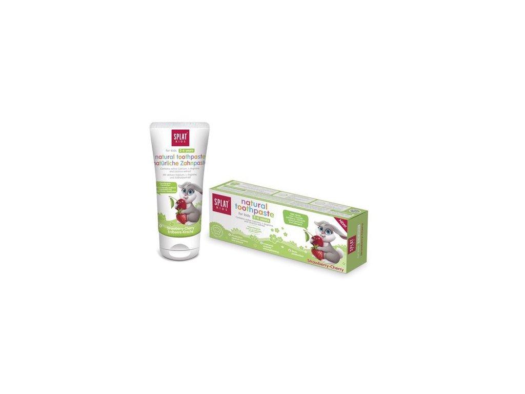 SPLAT Kids 2-6 98% přírodní zubní pasta jahoda-třešeň 50ml