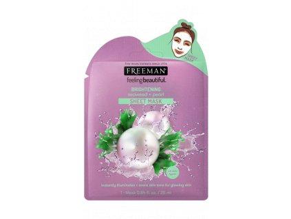 FREEMAN látková rozjasňující maska mořská řasa - perleť 25ml