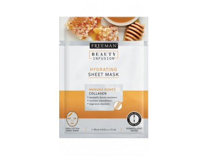 FREEMAN BI-Hydratační  látková maska manukový med + kolagen + sérum 25ml