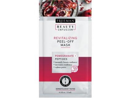 FREEMAN BI-Revitalizační slupovací maska granátové jablko + peptidy + serum sachet 15ml