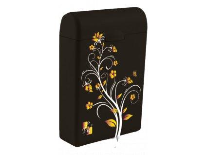 TAMPONBOX - pouzdro na tampony hnědý Flower