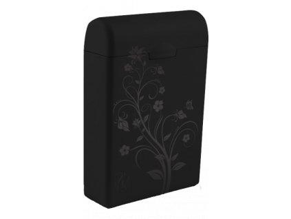 TAMPONBOX - pouzdro na tampony černý Flower