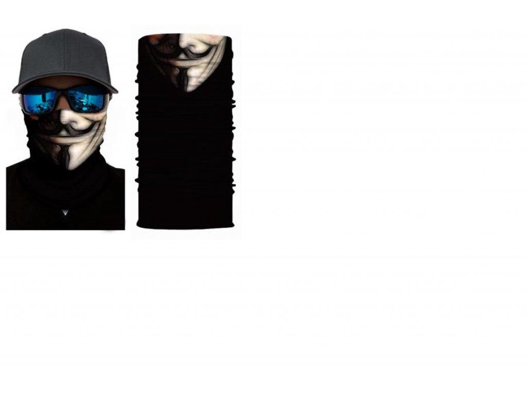 bandana Anonymous BW
