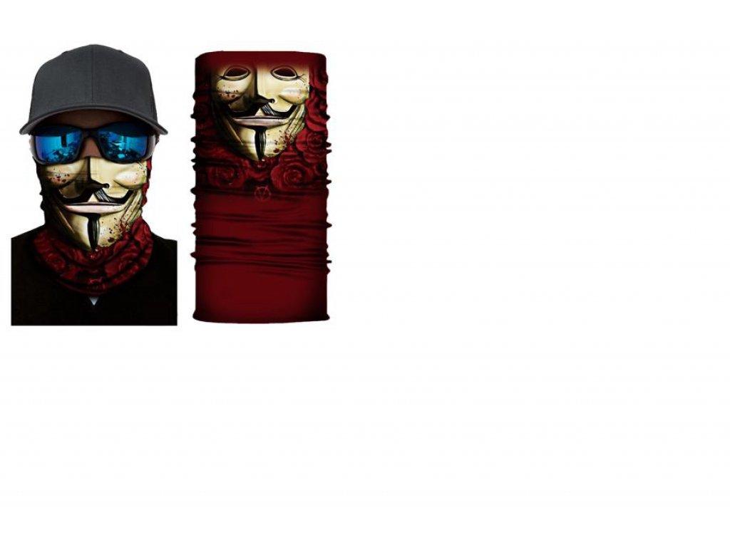 bandana Anonymous red