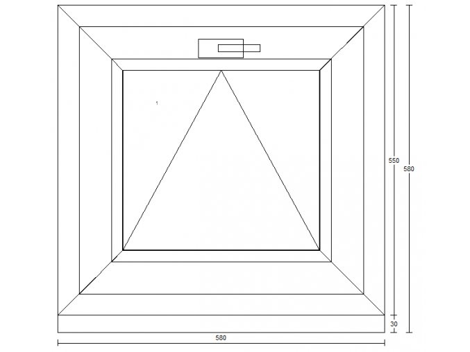 Plastové KLIK okno, 580 x 580 mm (Barva Zlatý dub/Bílá)