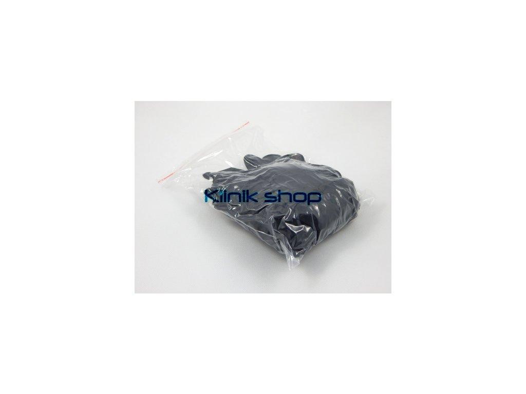 Černé latexové rukavice - 10 párů