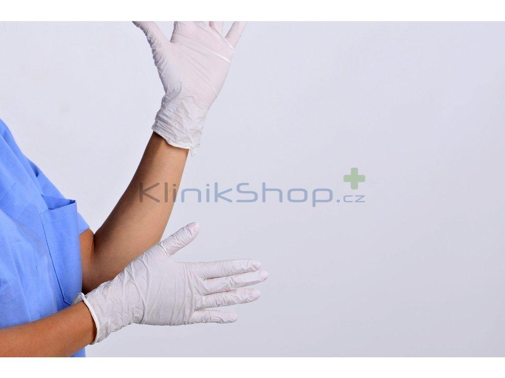 Nitrilové rukavice Bílé Box