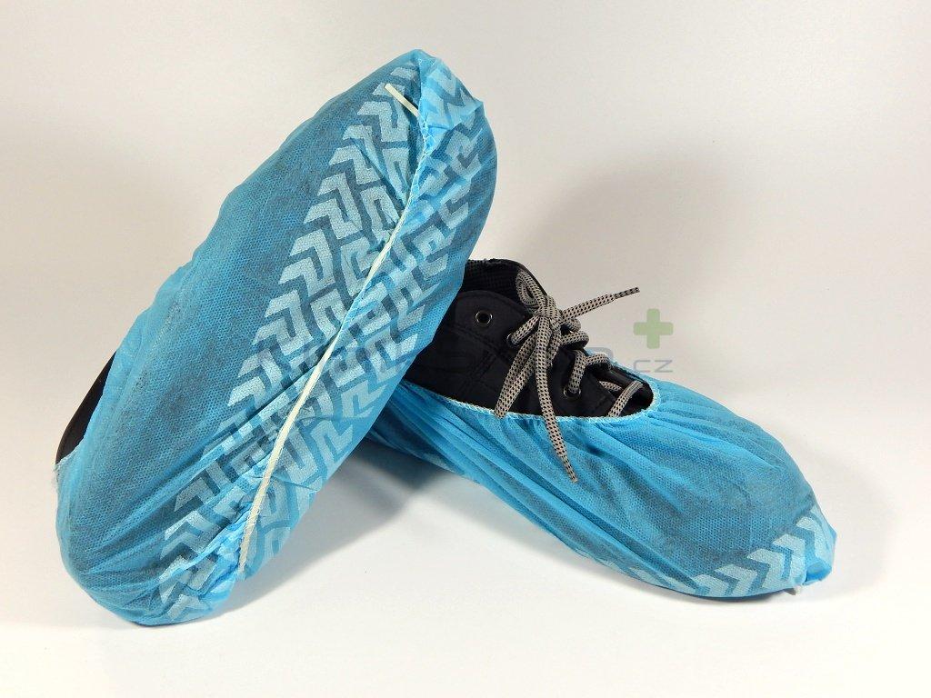 Návleky na obuv z netkané textilie s protiskluzovou úpravou