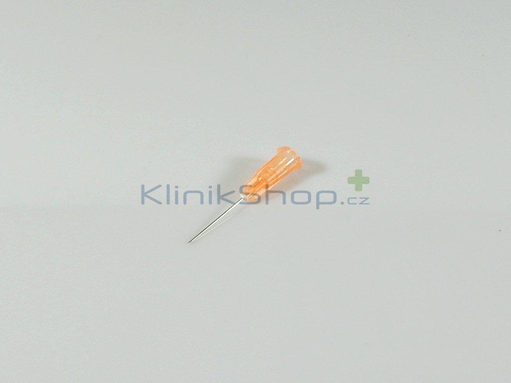 Injekční jehla jednorázová - oranžová 0,50mm x 20mm