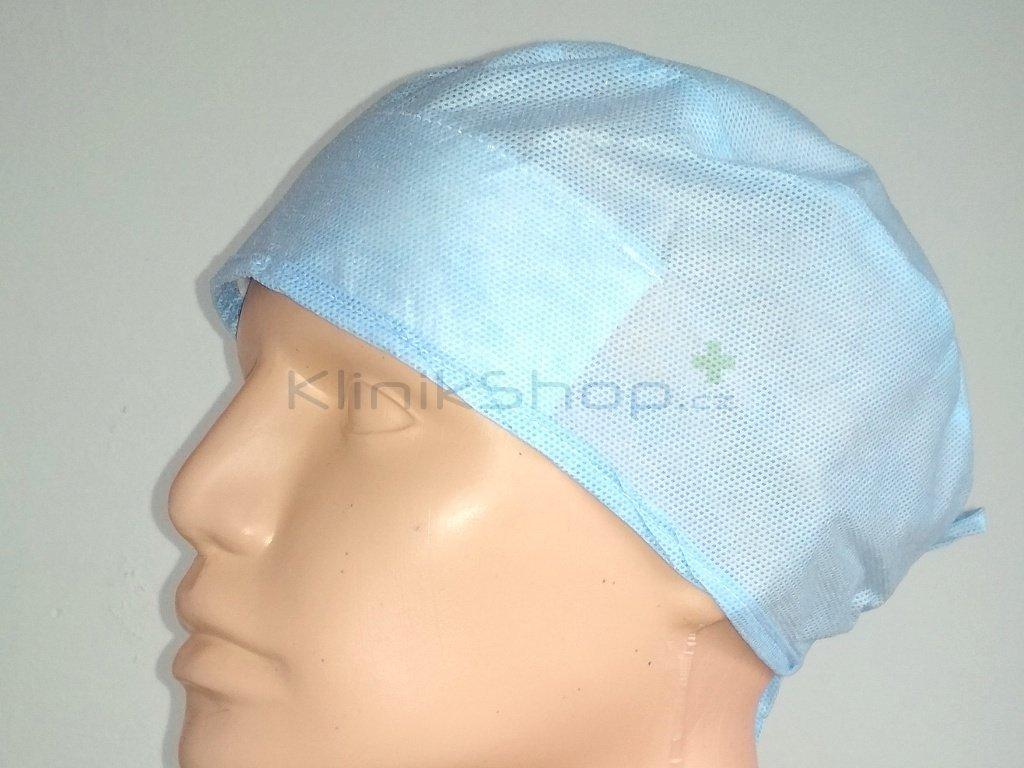Operační čepice s vázáním a potítkem