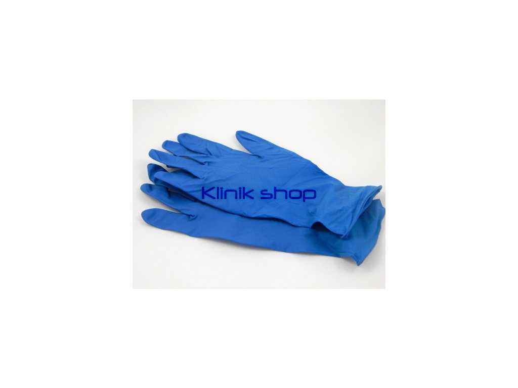 Modré latexové rukavice - zesílené 10 párů