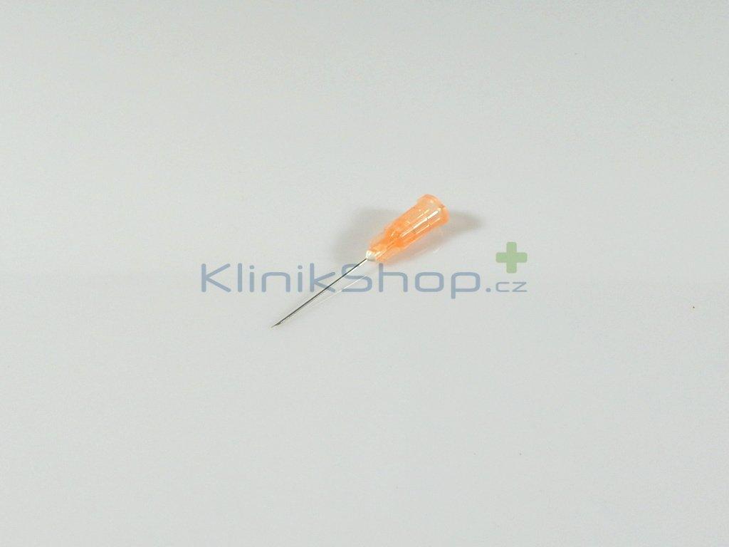 Injekční jehla jednorázová - oranžová 0,50mm x 25mm