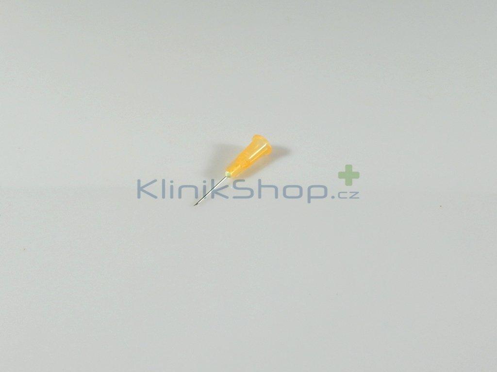 Injekční jehla jednorázová - oranžová 0,50mm x 16mm