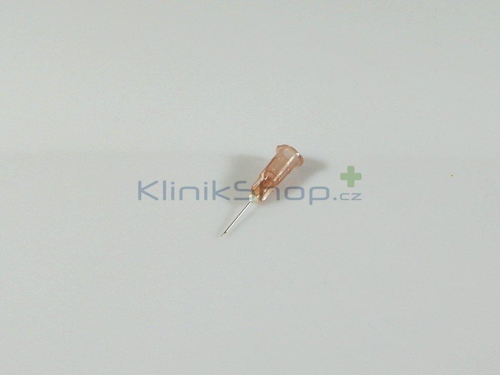 Injekční jehla jednorázová - hnědá 0,45mm x 12mm
