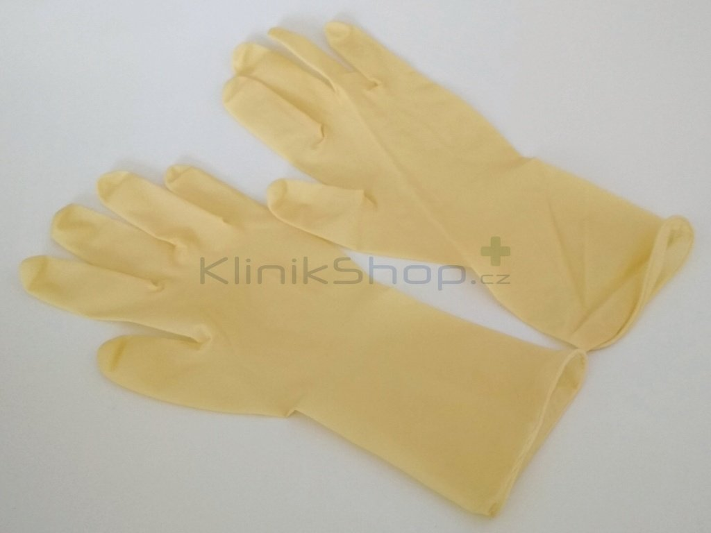 Extra dlouhé latexové rukavice