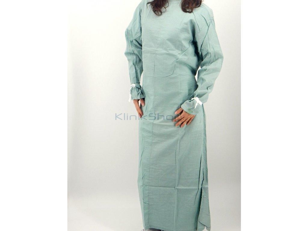 Zelený operační plášť