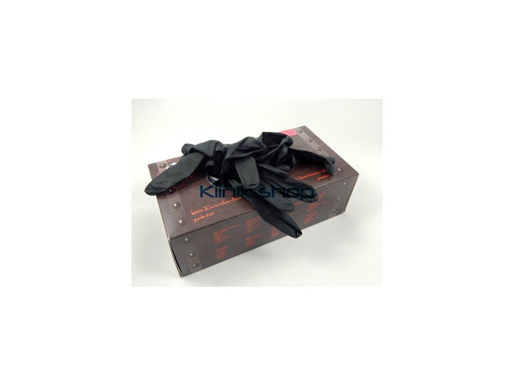 Černé latexové rukavice Box