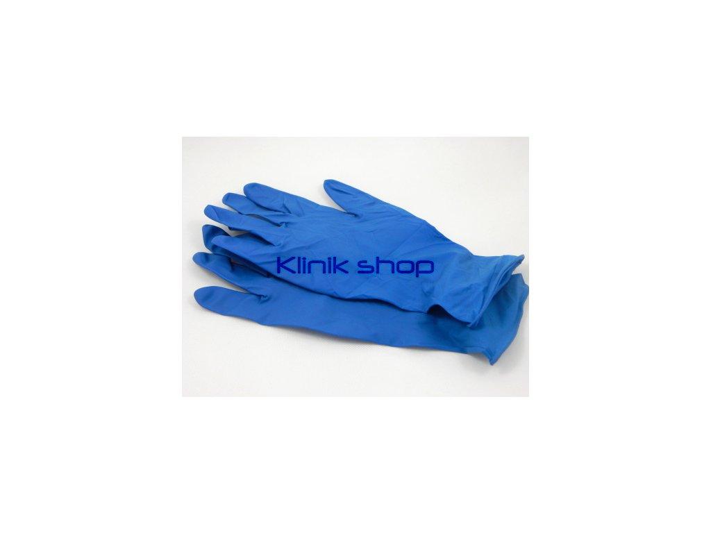 Modré latexové rukavice - zesílené 5 párů