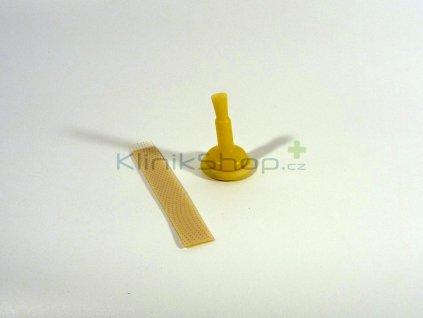 Urinální kondom s lepícím proužkem