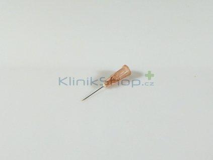 Injekční jehla jednorázová - hnědá 0,45mm x 16mm