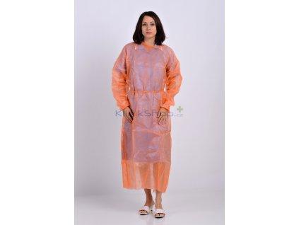 Izolační jednorázový plášť oranžový