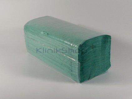 Skládané papírové ručníky ZZ - zelené