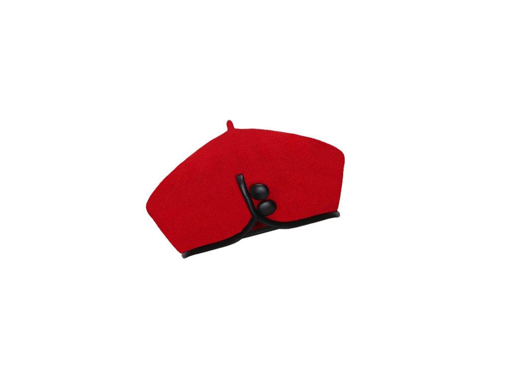Dámský vlněný baret Catherine Red