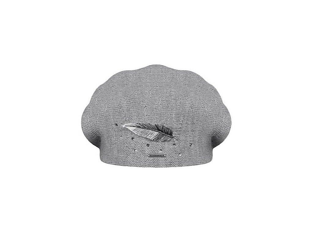 damsky pleteny baret inka grey
