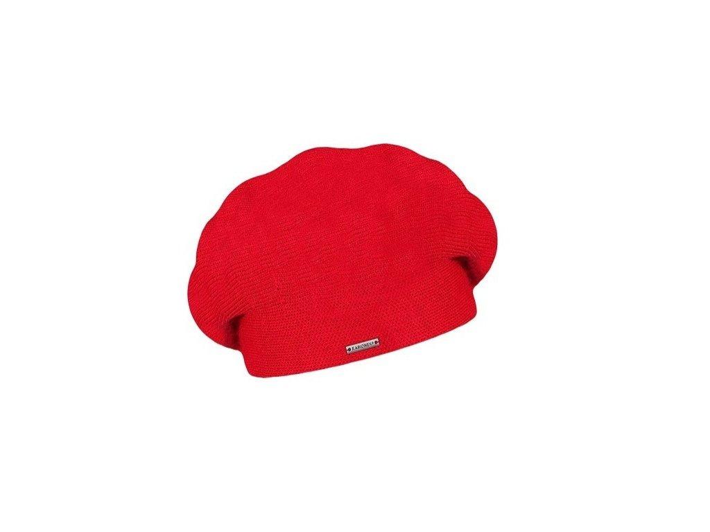 damsky vlneny pleteny baret manon red