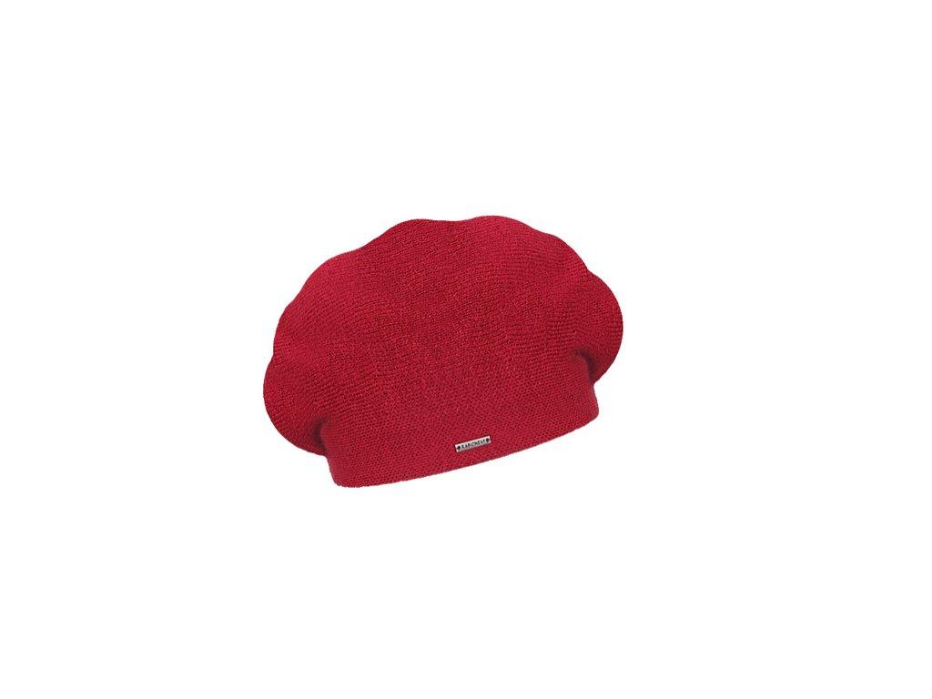 damsky pleteny baret manon cerveny