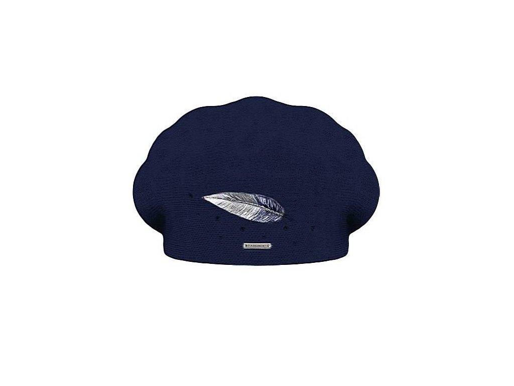 damsky vlneny baret inka modra
